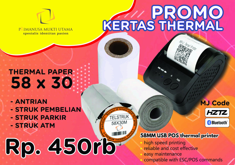 kertas thermal 58x30