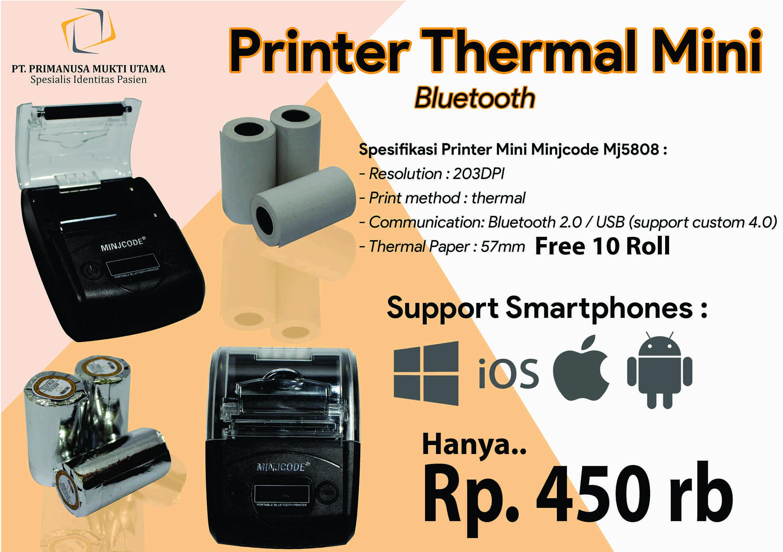 Printer kasir Bluetooth bonus kertas struk thermal 10 roll