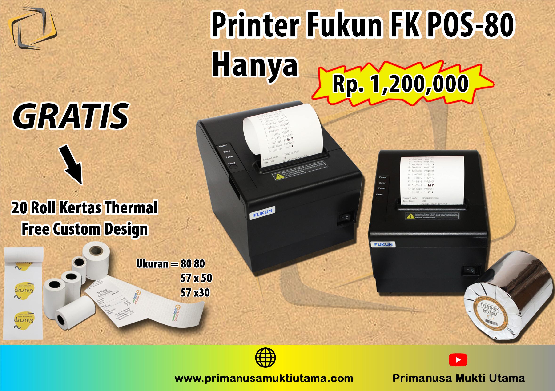printer struk kasir bonus 20 roll kertas thermal