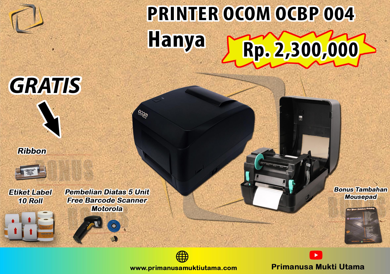 printer label barcode ocom ocbp 004 bonus 10 roll label semicoated